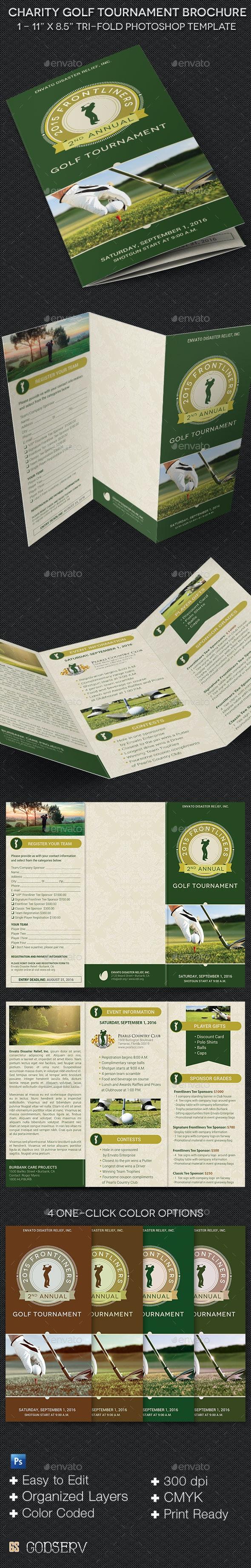 Charity Golf Tournament Brochure Template - Informational Brochures