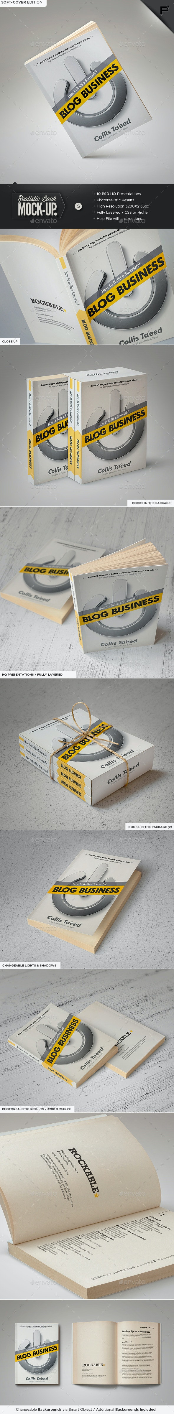 Book Mock-Up / Soft-Cover Edition - Books Print