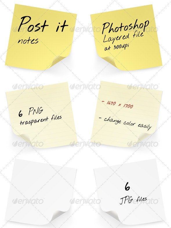 Post it Pack - Business Illustrations