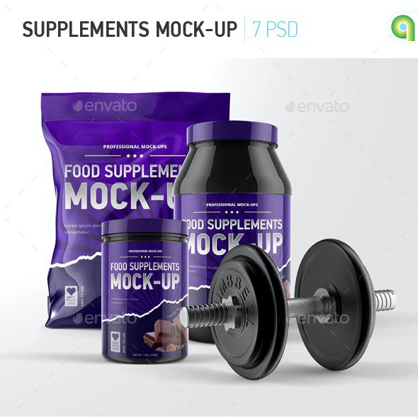 Sport Supplement Package Mock-up