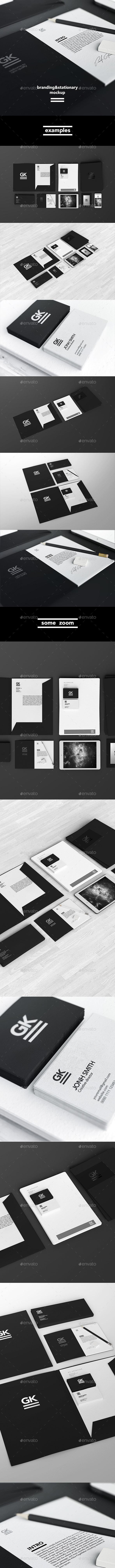 Stationery / Branding / Identity Mock-Up - Stationery Print