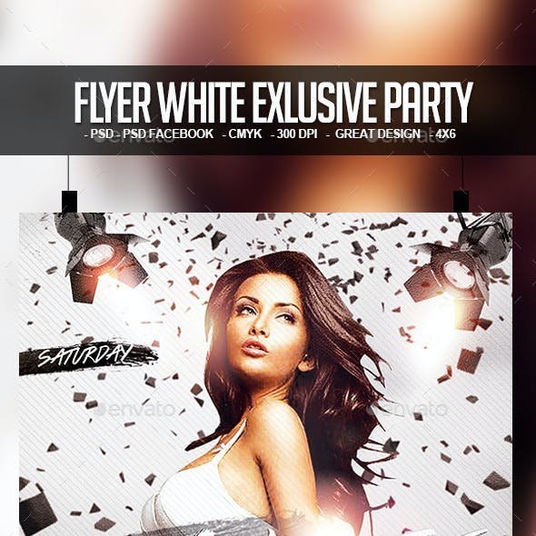 Flyer White Exlusive Party