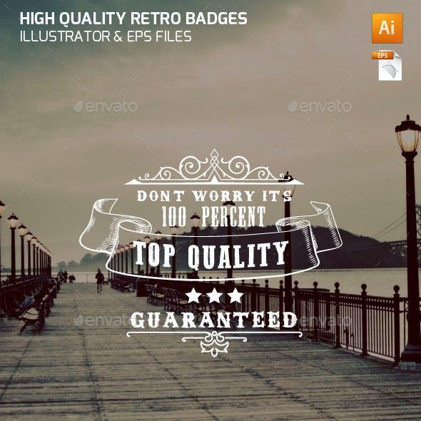 High Quality Vintage Badges