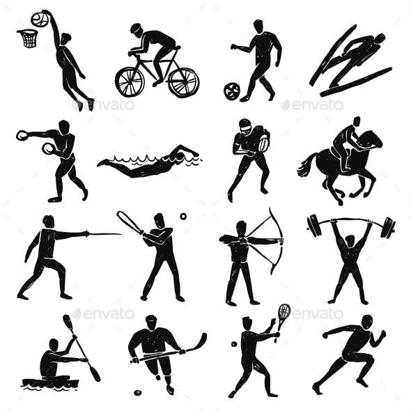 Sport Sketch People Set