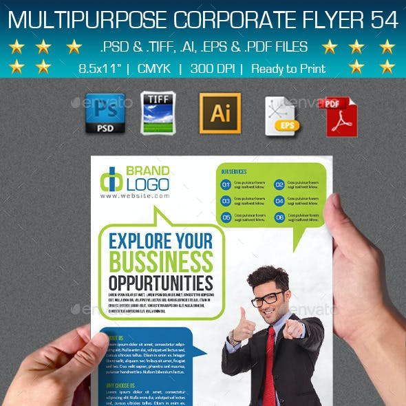 Multipurpose Corporate Flyer 54