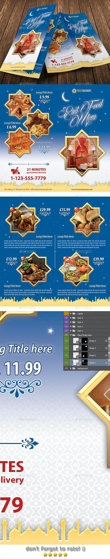 East Food Restaurant Bifold Brochure 04 - Brochures Print Templates