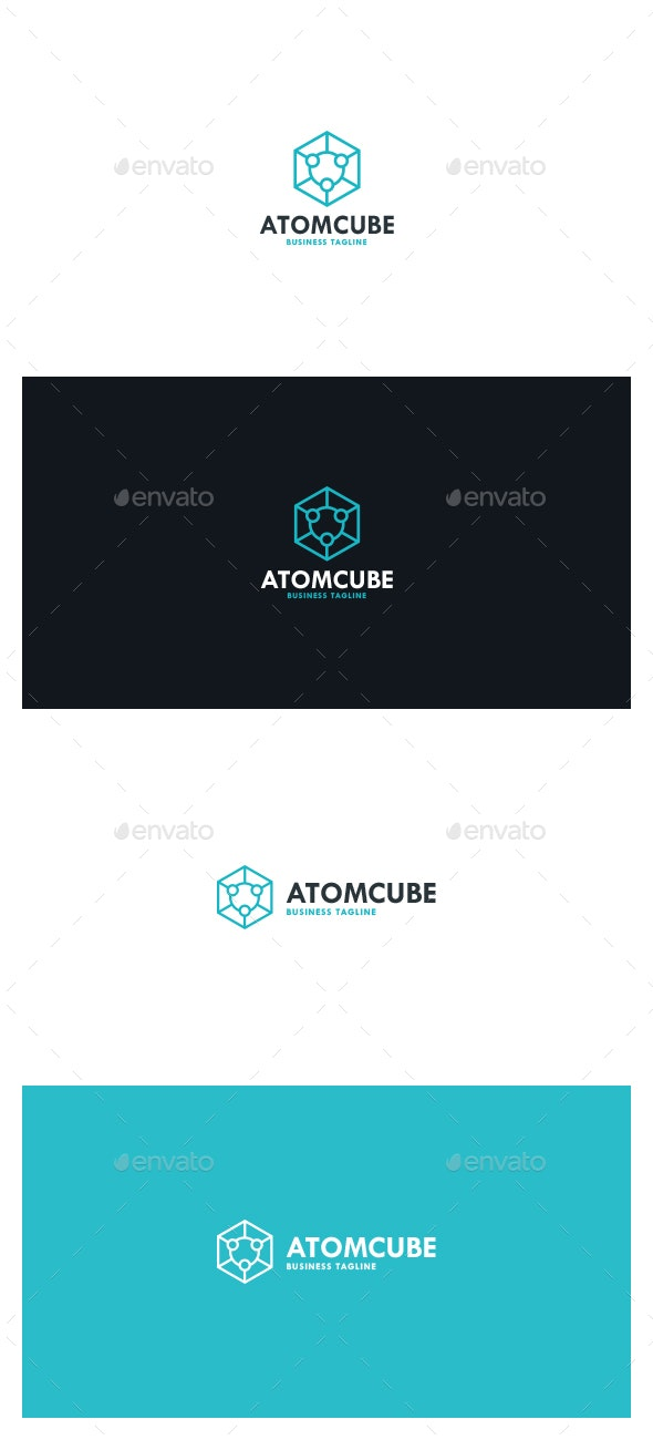 Atom Cube Logo - Symbols Logo Templates