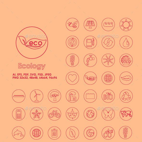 42 Ecology simple icons
