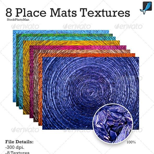 8 Colorful Place Mat Textures