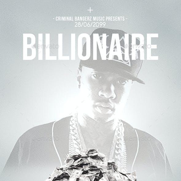 Billionaire   Hip-Hop Modern Flyer PSD Template