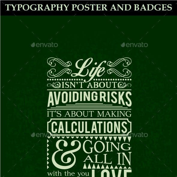 Typography Poster and Badges
