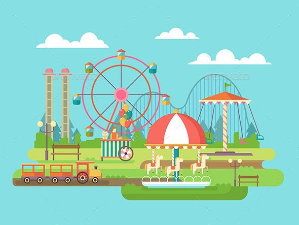 Amusement Park - Man-made Objects Objects