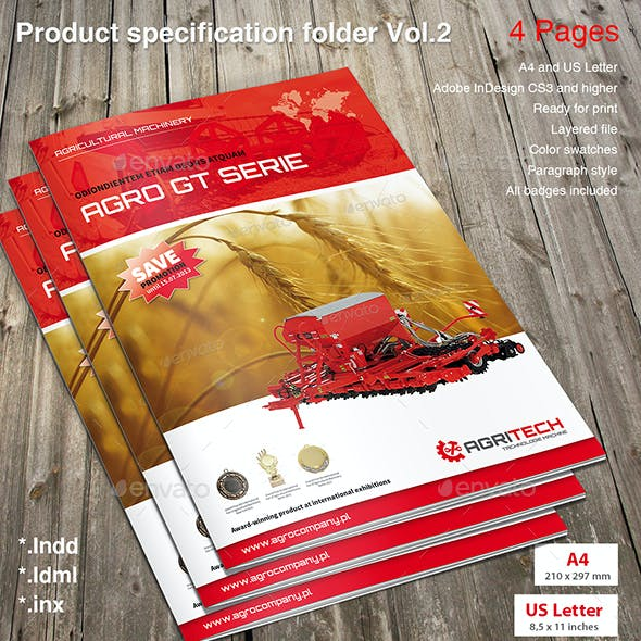 Product Specification Folder Vol. 2