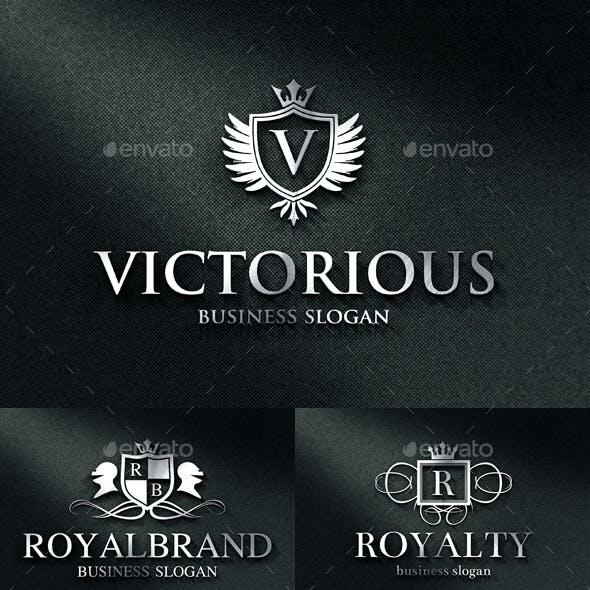 Royal Luxurious Heraldic Crest Logos