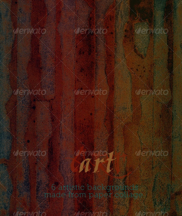 Abstract Art Painting - Paper Collage and Paint - Abstract Backgrounds