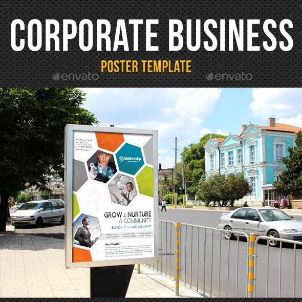 Corporate Business Poster Template V01