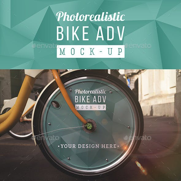 Photorealistic Bike Advertising Mock Up