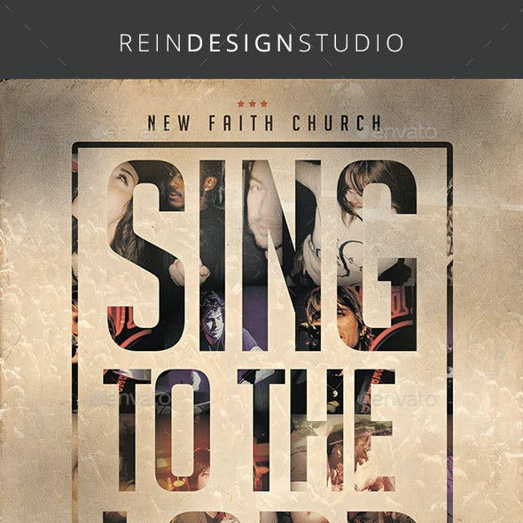 Sing to the Lord Church Flyer