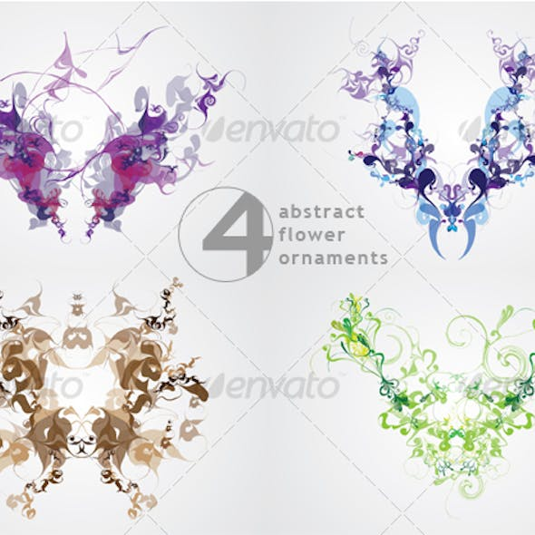 Abstract Flower Ornaments