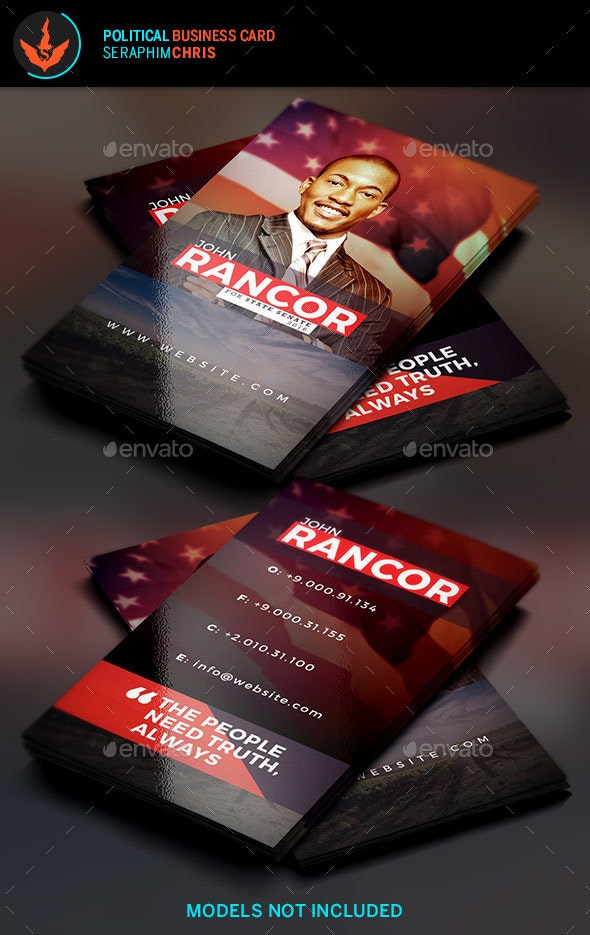 Truth: Political Business Card Template - Corporate Business Cards