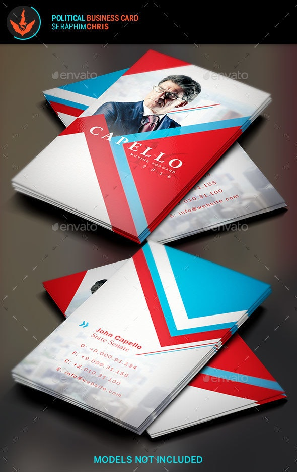 Political Business Card Template 5 - Corporate Business Cards