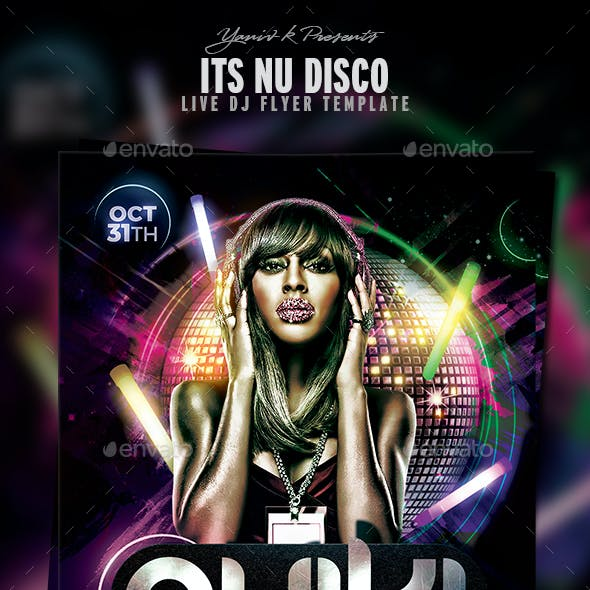 Nu Disco Flyer Template