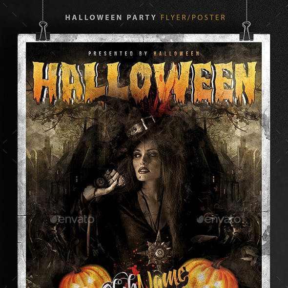 Halloween Party Poster / Flyer