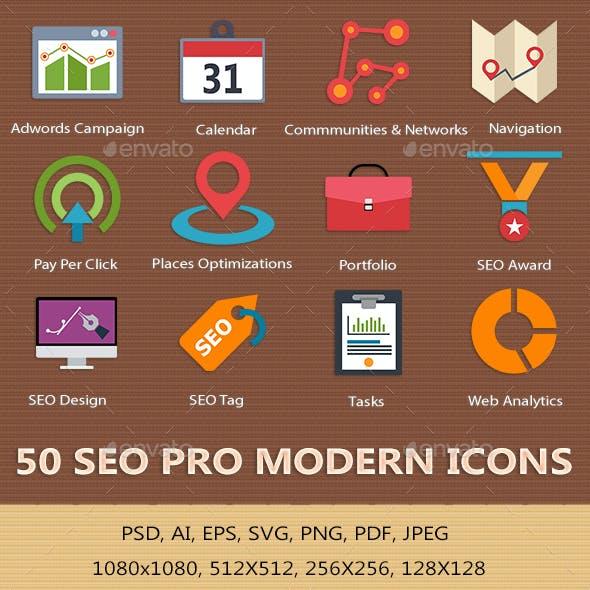 SEO Pro Modern Icons