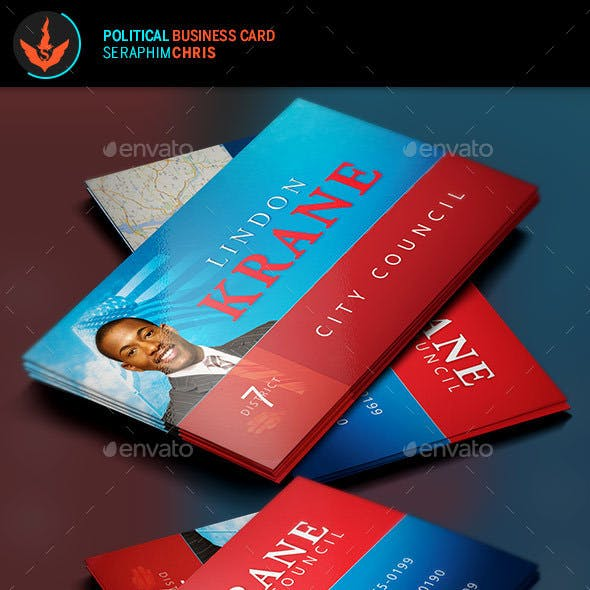Political Business Card Template 6