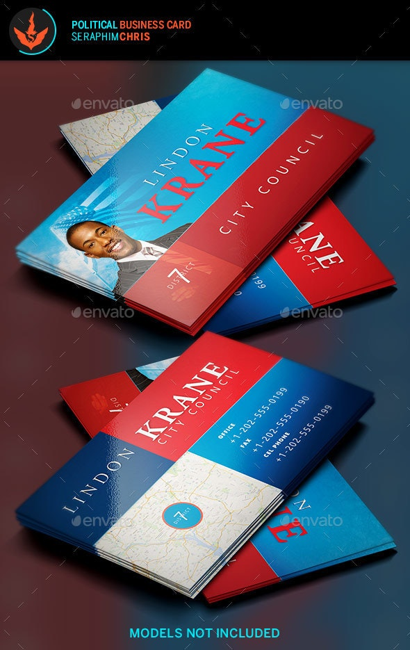 Political Business Card Template 6 - Corporate Business Cards
