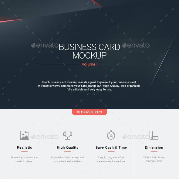 Business Card Mock-Up V.1