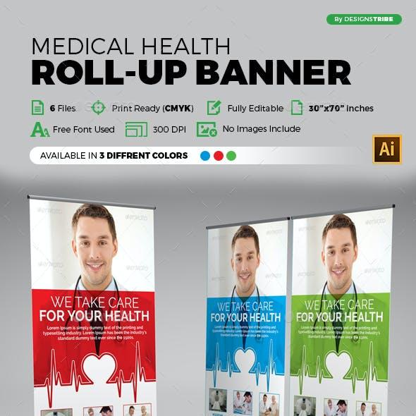 Medical Health Roll-up Banner