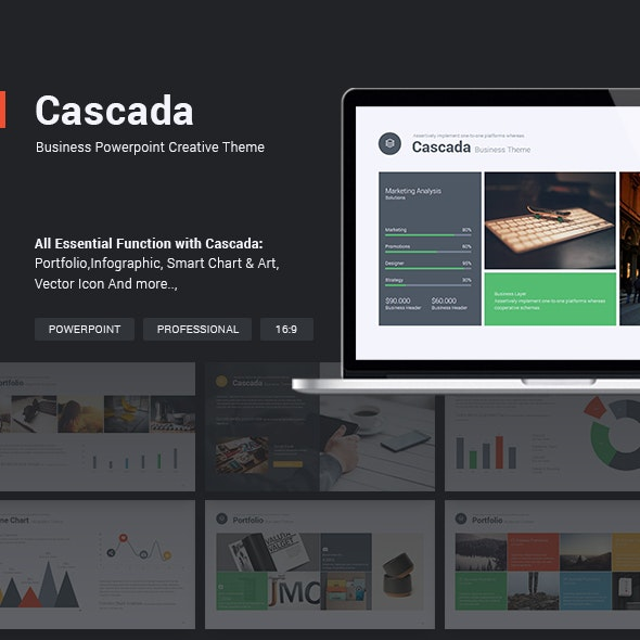 Business Theme - Cascada - Business PowerPoint Templates