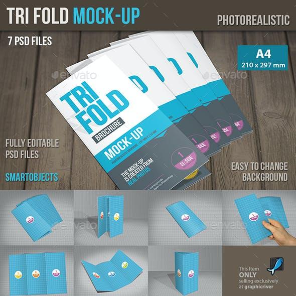 Mock-Up Trifold Brochure