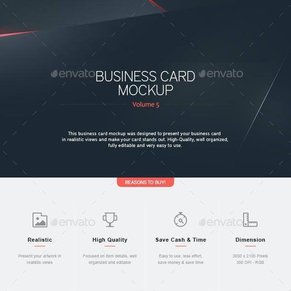 Business Card Mock-Up V.5