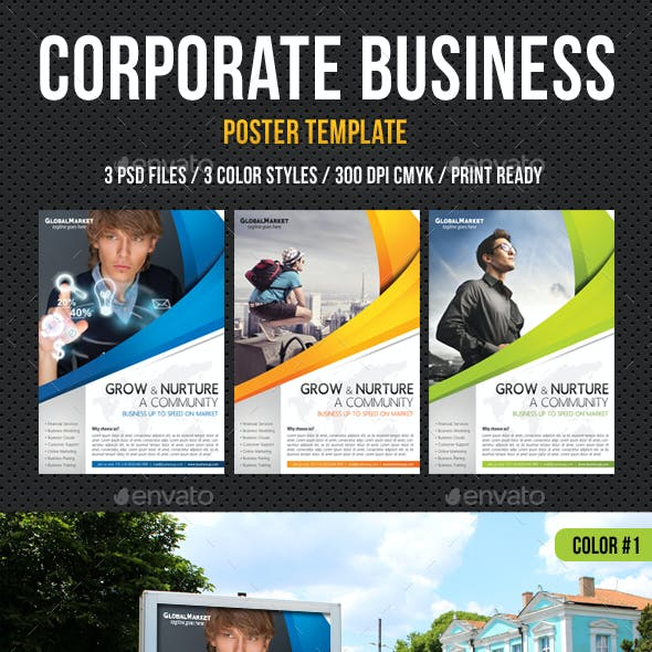 Corporate Business Poster Template V03