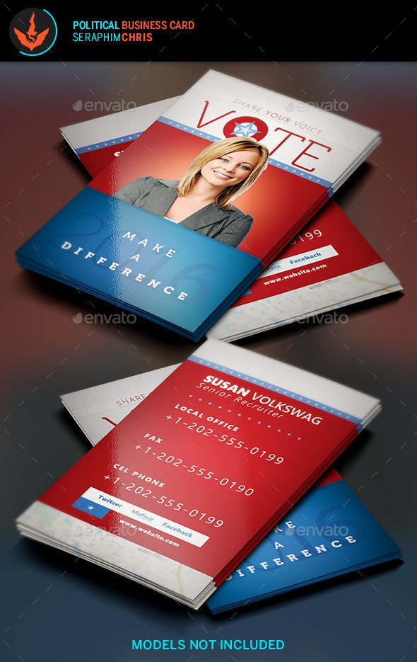 Vote: Political Business Card Template
