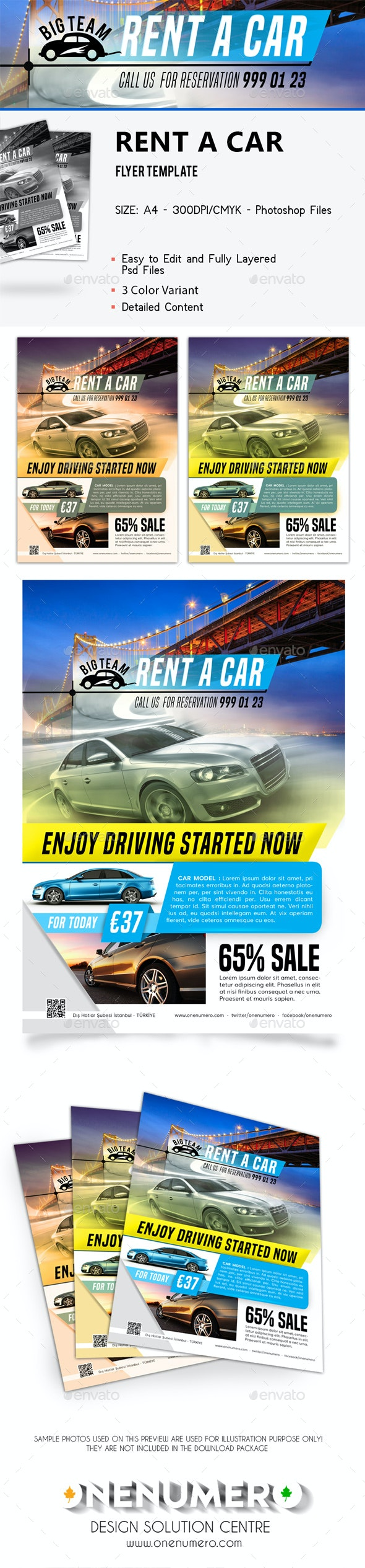 Rent a car Flyer - Corporate Business Cards