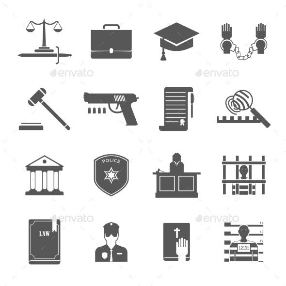 Law Enforcement Icons Set