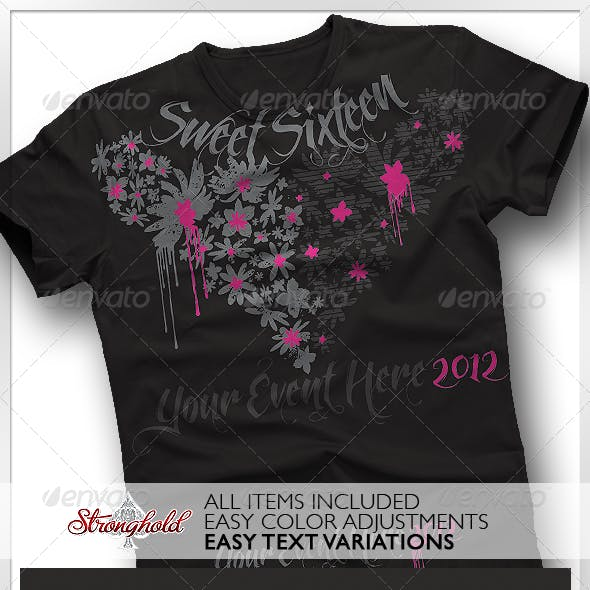 Sweet Sixteen Girls T-Shirt