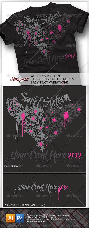 Sweet Sixteen Girls T-Shirt - Events T-Shirts