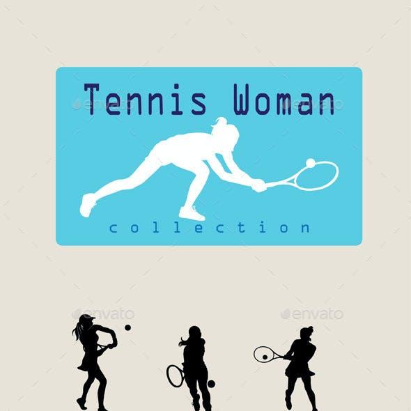 Woman Tennis Player Silhouette