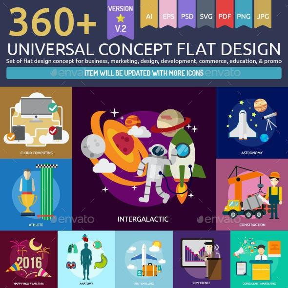 Universal Concept Flat Design