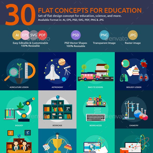 Flat Concepts for Education & Science