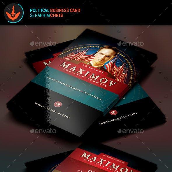 Political Business Card Template 8