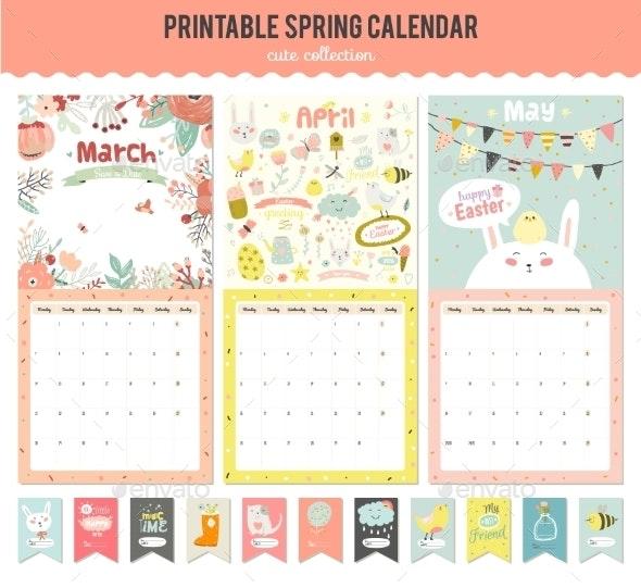 Cute Calendar Diary 2016 With Seasonal Themes - Seasons Nature