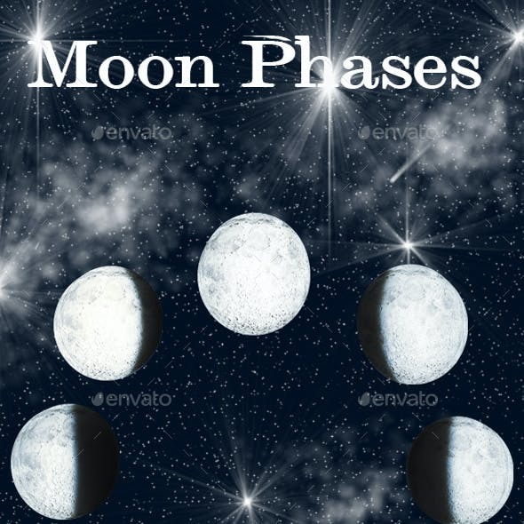 22 Realistic Moon Phases