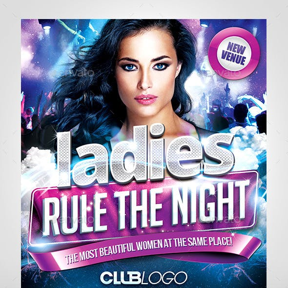 Ladies Rule the Night Flyer Template