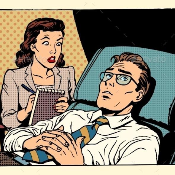 Psychologist Female Patient Male Sympathy