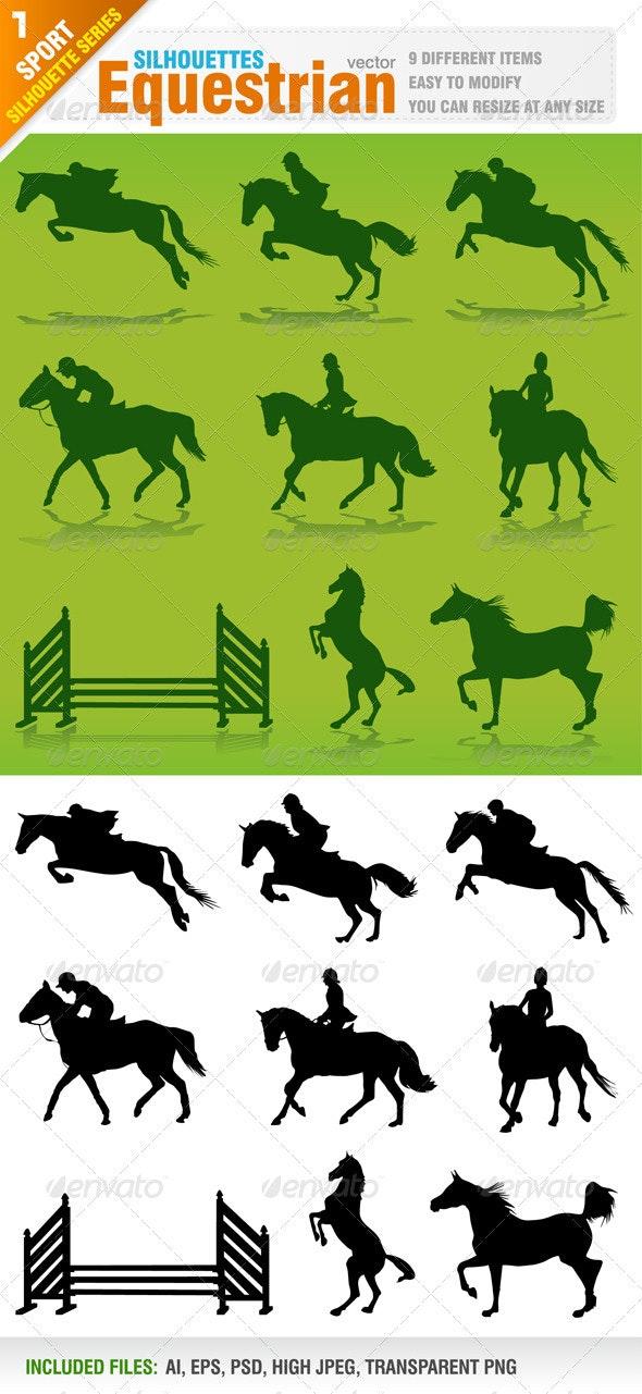 Equestrian Silhouettes - Sports/Activity Conceptual